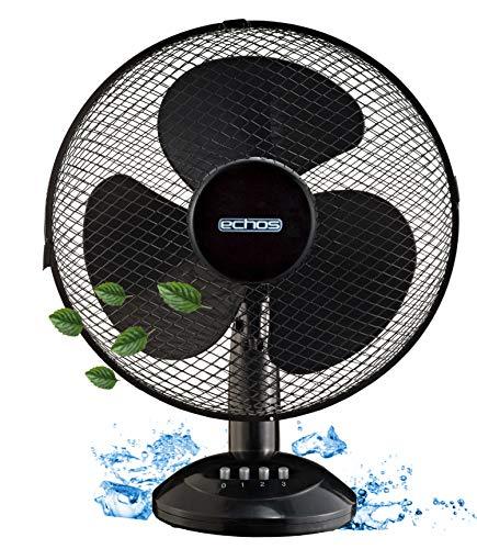Tischventilator Ø31 cm   45 Watt   3 Stufen   Ventilator   Rotation zuschaltbar   Oszillierend   Leiser Betrieb   Table Fan   Kleiner Ventilator   Geeignet für Büro, Schlafzimmer, Wohnzimmer  