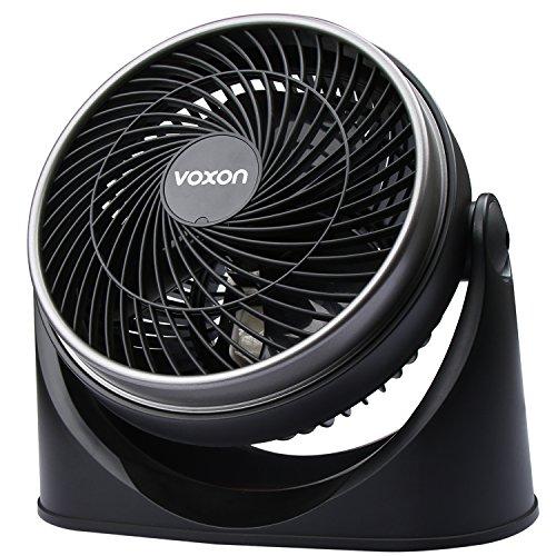 VOXON Ventilator, Tisch-/Wand-Tischventilator Kraftvoller und geräuscharmer Turbo-Ventilatoren mit 3 Geschwindigkeitsstufen und verstellbaren Neigungswinkel