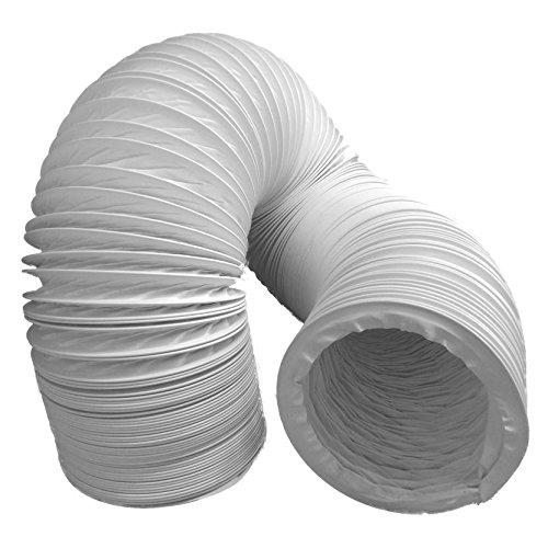 daniplus Abluftschlauch PVC flexibel Ø 100/102 mm, 3 m z.B. für Klimaanlagen, Wäschetrockner, Abzugshaube