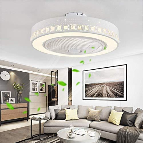 Deckenventilator Mit Beleuchtung und Fernbedienung Leise Fan LED Deckenleuchte Kreative Moderne Dimmbar Deckenlampe Kann Timing Ventilator Kronleuchter Kinderzimmer Schlafzimmer Wohnzimmer Lampen 55CM