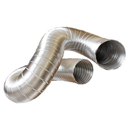 Abluftschlauch, Alu Flex Rohr, Aluminium flexibel Ø 100 mm, 3 m z.B. für Klimaanlagen, Wäschetrockner, Abzugshaube