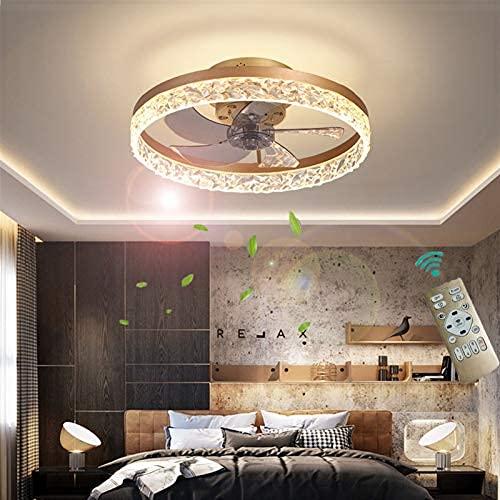 Deckenventilator Mit Beleuchtung, Deckenventilator Mit Fernbedienung Deckenventilator Led Dimmbar Einstellbar Windgeschwindigkeit Deckenlampe Mit Ventilator 30w Leise Ventilator Decke Lampe Gold