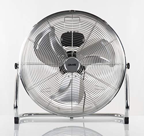 DMS Standventilator | Windmaschine | Bodenventilator | Tisch- und Trommelventilator | 3 Geschwindigkeitsstufen | Ø 57cm | 200 Watt | 10000m3/h | Chrom