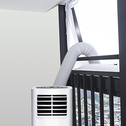 COMLIFE 400CM Universal Fensterabdichtung für Klimageräte und Ablufttrockner Hot air Stop Window-Seal Anti-Kollision Wind Blocker Leicht Installation Air Circulation mit Reißverschluss und Klettenband