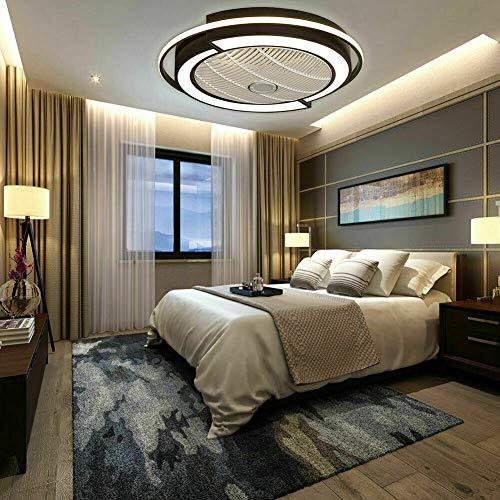 58cm 3-Stufiger 3-Farbtemperatur Dimmbar Fernbedienung Deckenleuchte mit Ventilator Deckenventilator mit Lampe für Schlafzimmer, Wohnzimmer, Arbeitszimmer, Büro, Flur usw