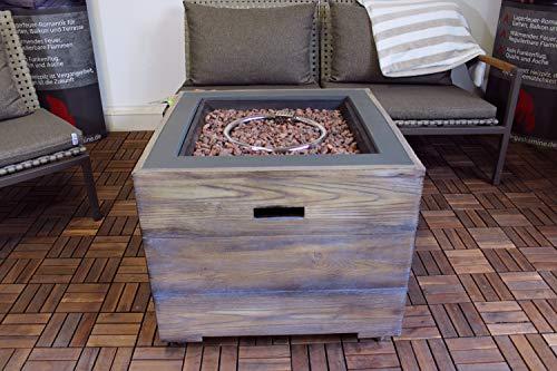 Clifton Gaskamin Standard Plus Gasofen Gartenkamin Terrassenkamin Außenkamin Verschiedene Designs (Lime)