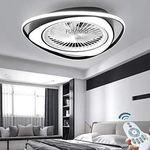 Deckenventilator Fan Deckenlampe LED Licht Einstellbare Windgeschwindigkeit Mit Beleuchtung Und Fernbedienung Dimmbar 38W Moderne Deckenleuchte Für Schlafzimmer Wohnzimmer Esszimmer Kinderzimmer