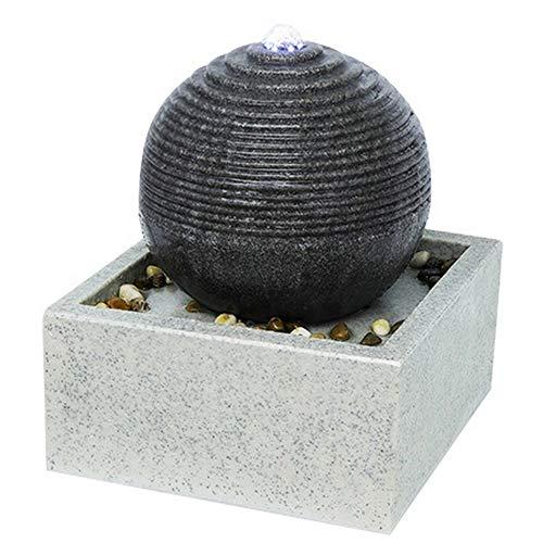 Zen'Light SCFR19-C4 Zimmerbrunnen, Polyresin, Grau, 30 x 30 x 34 cm