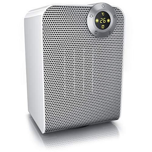 Brandson - Heizlüfter - Keramik-Heizlüfter Badezimmer energiesparend leise - Heizstrahler Schnellheizer mit Oszillation - 2X Heizstufen - Heizung Heater - GS Zertifiziert - Bad Schlafzimmer Terrasse