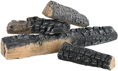 Carlo Milano Keramikholz: 4er-Set Keramik-Dekorations-Holzscheite für Bioethanol-Öfen (Deko Holzscheite)