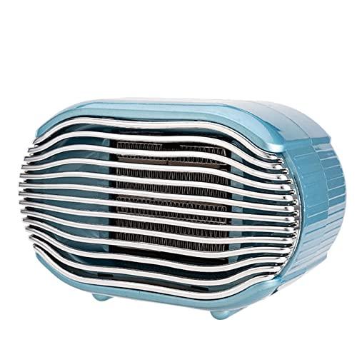 QAZW Heizlüfter Energiesparend 800W Thermostat leise Heizlüfter Bad mit Kippschutz Überhitzungsschutz Keramik Heizlüfter für Badzimmer Wohnzimmer,Blue