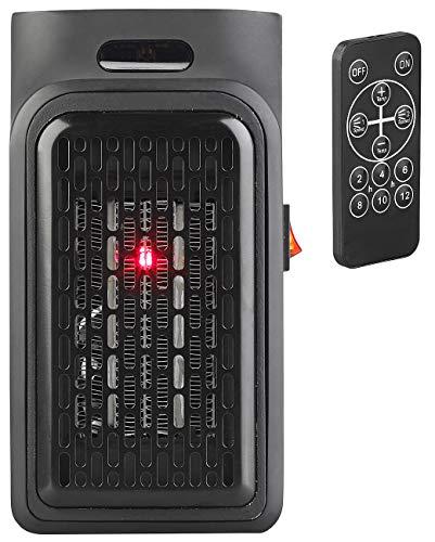 Sichler Haushaltsgeräte Mini Heizung: Mini-Steckdosen-Heizlüfter mit Timer & Fernbedienung, 2-stufig, 500 W (Steckdosenheizgerät)