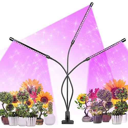 Pflanzenlampe LED, Pflanzenleuchte 30W, Wachsen licht with 60 Leds,dimmbar Pflanzenlicht Vollesspektrum Pflanzen Wachstumslampe mit 3 Timer 3/6/12Stunden, Plant Lights für Zimmerpflanzen Gartenarbeit
