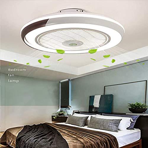 LED Fan Deckenleuchte, Deckenventilator Mit Beleuchtung Fernbedienung Leise Ventilator Dimmbar Einstellbare Windgeschwindigkeit Deckenlampe Für Schlafzimmer Kinderzimmer Wohnzimmer Esszimmer, Braun