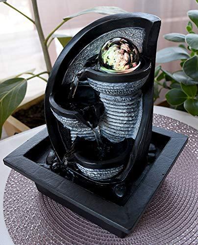 Tisch-Brunnen Springbrunnen mit LED Beleuchtung IN-DOOR Zimmerbrunnen Dekor-Beleuchtung RGB Farbwechsler