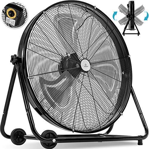 KESSER® KE-75 Ventilator Bodenventilator Ø 75 cm | Windmaschine | Trommelventilator | Hallenlüfter | Industrieventilator | Standventilator | Hallenkühlung | 220 Watt |