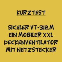 Sichler VT-312.m XXL Deckenventilator mit Netzstecker und Timer