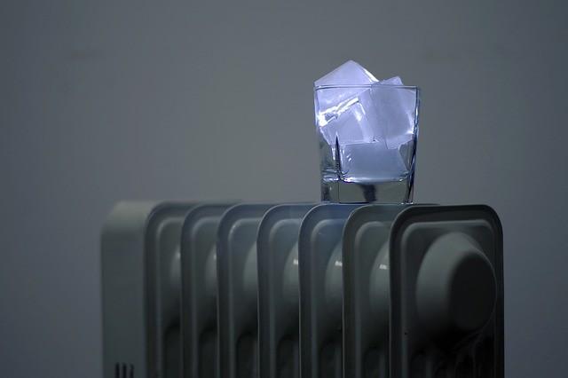 Oelradiator Eis