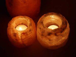 Salzkristalllampen Set